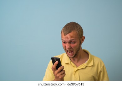 A man with a smartphone
