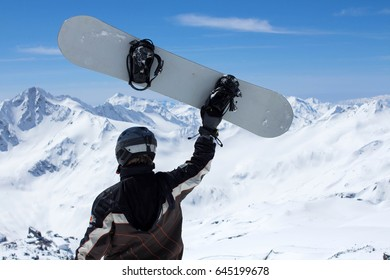 10ae7f3d9fd Snowboard Man On Snowboard Mask No Stock Photo (Edit Now) 547954027 ...