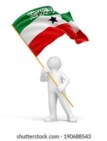 Man and Somaliland flag