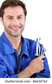 Man with spanners