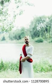 man in spartan costume