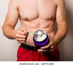 man with sports nutrition