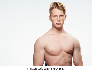 Man sporty appearance on isolated background