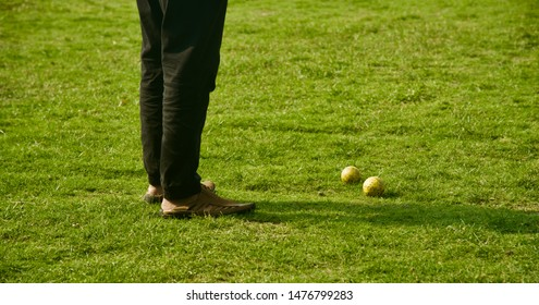 Man standing in a sports ground isolated unique photo