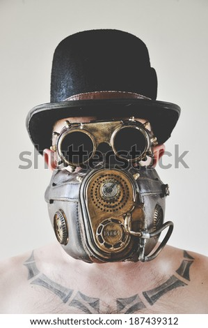 1b4c7b061a088 Man Steampunk Hat Goggles Mask These Stock Photo (Edit Now ...