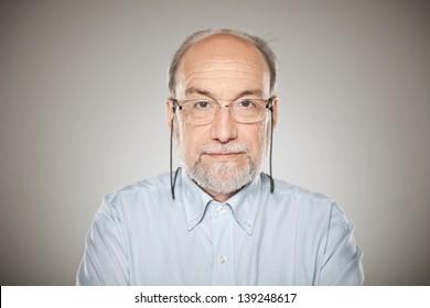 Man in studio looking at camera