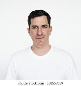 Man Studio Portrait Concept