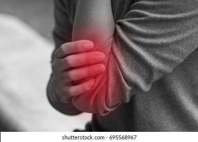 man suffering from joint pain, arthritis, gout, rheumatoid symptoms