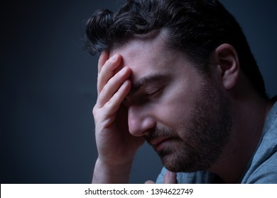 Man suffering for the mental disorder disturb