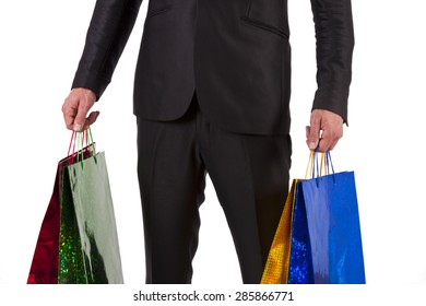 man in suit buying