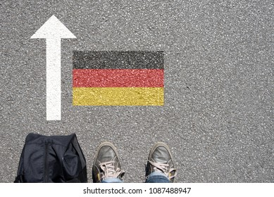 A man with a suitcase wants to enter Germany