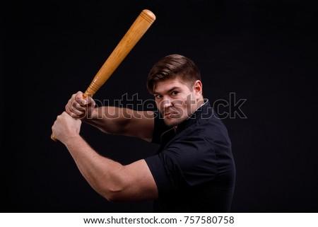 Man Swinging Bat
