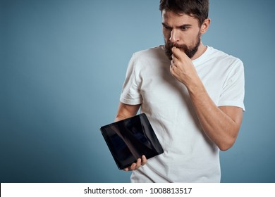 man with a tablet, technology