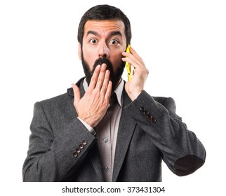 Man talking to mobile