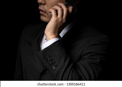 Man talking on a smartphone