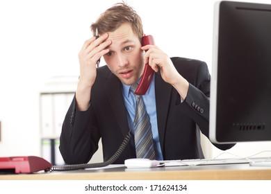 man at telephone