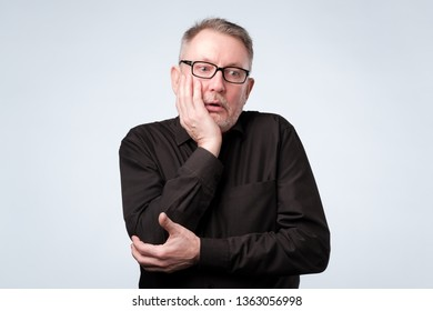 Man thinking about his problems, expressing some doubts