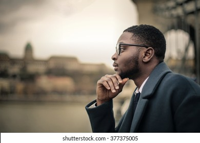 Man thinking of something