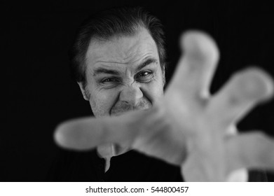 man threatening, anger