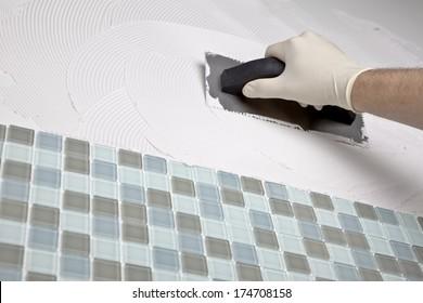 Man Tiling