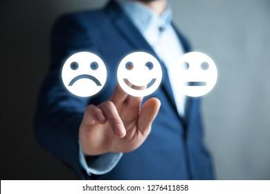 man touching smiles in screen
