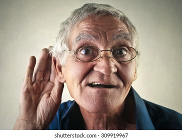 Man trying to listen to someone