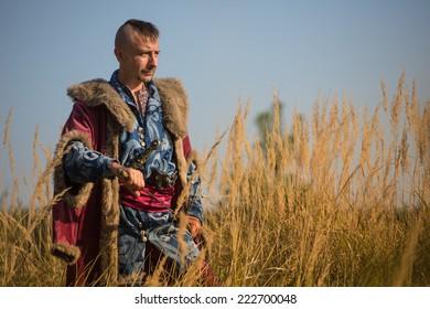 Man in in the Ukrainian national costume Cossack
