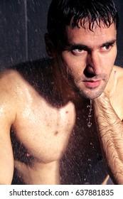 man under water jet