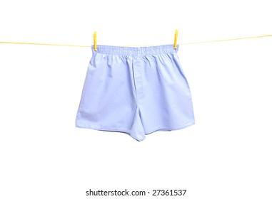 man underwear on clothes line