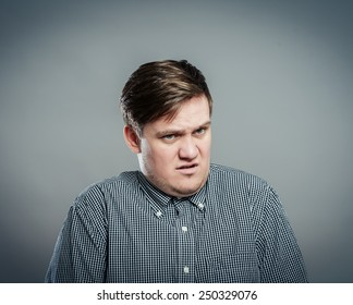 man unhappy desperate disappointed disgust
