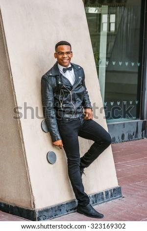 Man Urban Autumn Spring Casual Fashion Wearing Stock Photo Edit Now