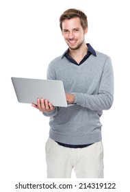 Man use of laptop computer