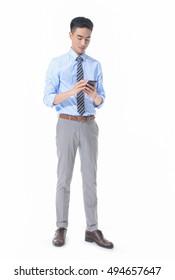 Man use mobile phone