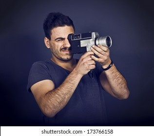 Man with Videocamera