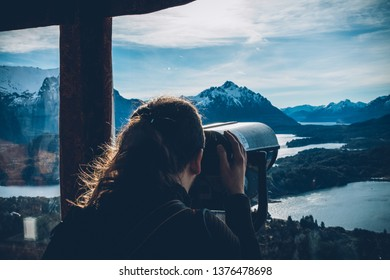 Man at view point in Bariloche