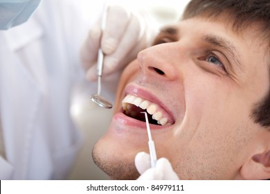 man  visit to the dentist