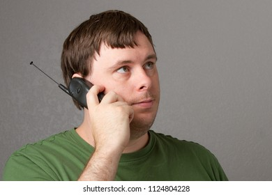 man waiting for someone to answer the phone