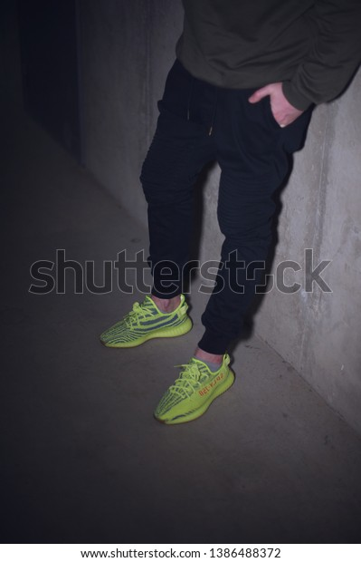Man Wearing Adidas Yeezy Boost 350 Stock Photo (Edit Now