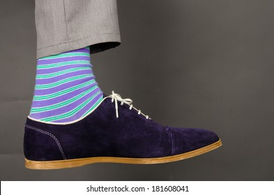 Man wearing fancy Socks