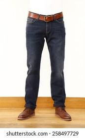 man wearing jeans pant, blue jeans, mannequin with blue jeans, manlegs with jeans