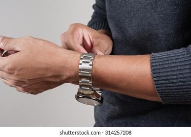 the man wearing a luxury watch