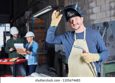 Man as welder worker with experience and competence
