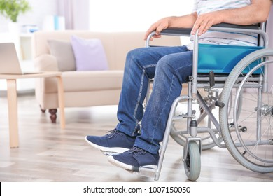 Man in wheelchair indoors