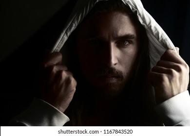 Man in White Hoodie