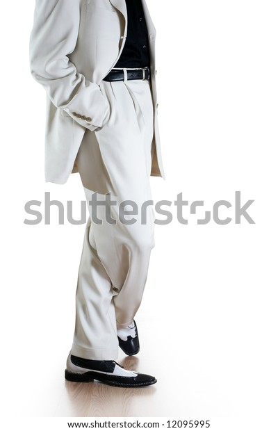 Man in white suit isolated on white