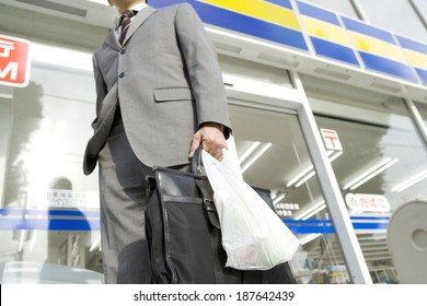 man who did some shopping at convenience store