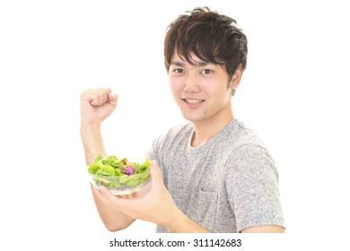 The man who eats salad