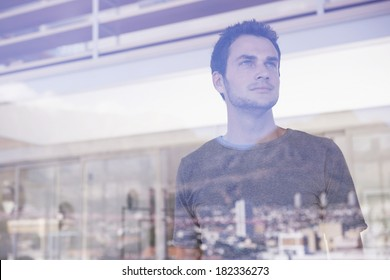 Man at window