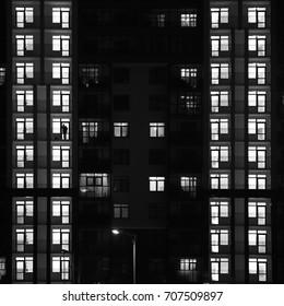 Man and windows