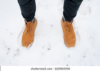 Man winter boots